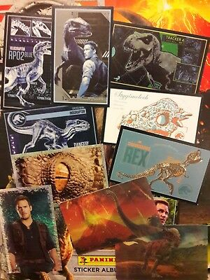 Panini Jurassic World - Fallen Kingdom Stickers Bundle- 90 x (No duplicates)