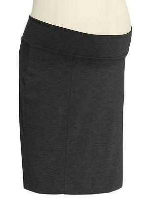 GAP MATERNITY Dark Gray Knit Ponte Skirt 12 NWT Womans (MSRP $49.95)