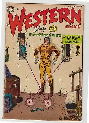 "Western Comics #47 - October 1954 - ""The Storming of Fort Courage!"""