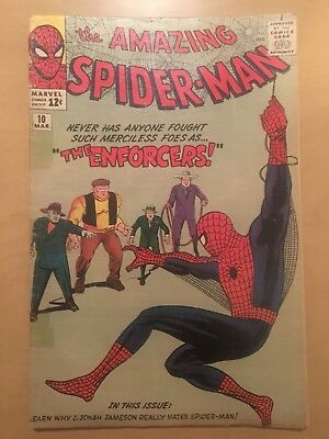 Amazing Spider-Man #10 (1964 Marvel) 1st appearance of the Enforcers Ditko