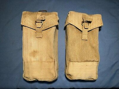 1 Pair of WWII British Army P 37 BASIC AMMO POUCHES MkIII - MEC Mills Equipment
