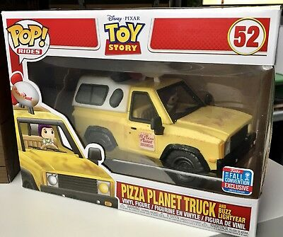Funko Pop! Rides Disney Toy Story Pizza Planet Truck & Buzz NYCC2018 BoxLunch LE