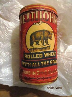 Pettijohn's Rolled Wheat With The Bran Board Can 1Lb 6Oz Grizzly Bear Quaker Oat