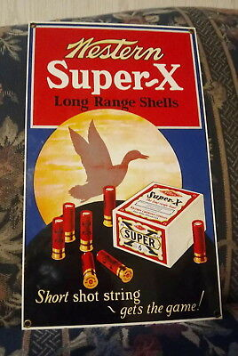 Rare Vintage Winchester Western Super X Shells Porcelain Sign Andy Rooney?