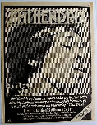 Jimi Hendrix 1980 Poster Advert Box Set