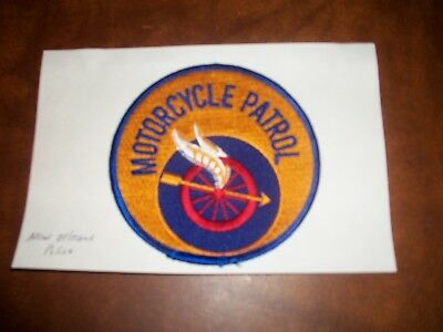 New Orleans Louisiana Motorcycle Patrol Police Patch New