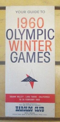 Vintage 1960 Harolds Club Reno Guide to the 1960 Olympic Winter Games