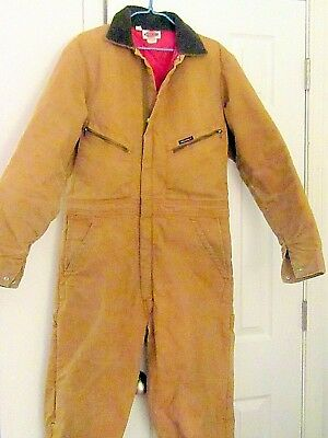 DICKIES COVERALLS Insulated coverall work Jumpsuit CHEST 38-40 LONG GD. COND.