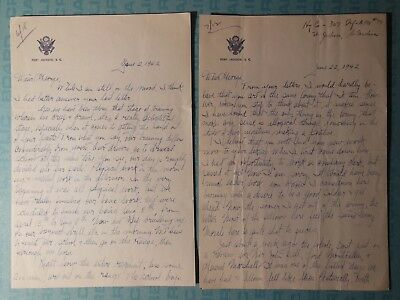 WWII letters from Charlie '42-45, Ft Jackson, Foster Field, Harlingen, 48th AAF