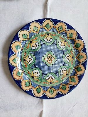 """Vintage Talavera Pottery 10""""  Plate Signed Numbered Ysauro Uriarte"""