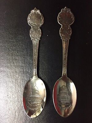 Vintage District Of Columbia Souvenir Silver Spoons, American Collector's Guild