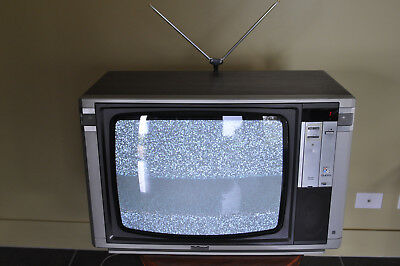 Vintage National television. 1986 one owner with remote and manuals