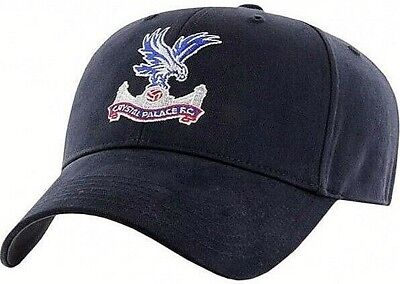 Crystal Palace Fc Embroidered Crest Adult Adjustable Navy Baseball Cap Cpfc