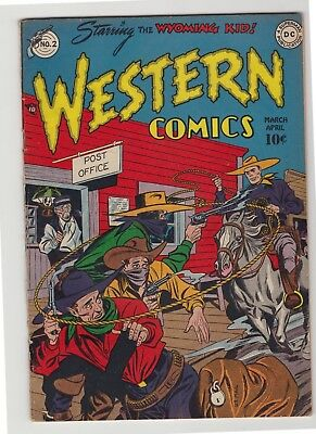 "Western Comics #2 - April 1948 - ""The Yellow Spoked Rig!"""