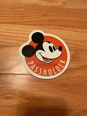 WDW Walt Disney World Original Passholder Magnet