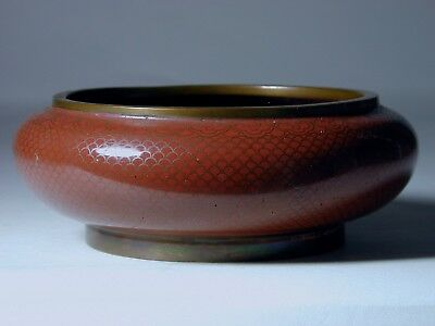 Fine Antique Qing Dynasty Chinese 19th Century Cloisonne Bowl Brush Washer