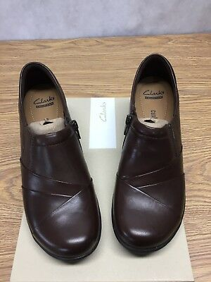 Womens Size 7.5 Clarks Brown Leather Channing Essa Shoes