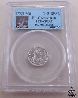1783 Mexico 1/2 Real PCGS Prime Select El Cazador Treasure w/ COA