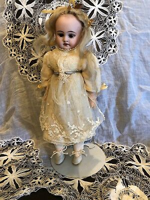 Antique A M .1894.DEP Petite Bisque Head Lady Doll Beauty