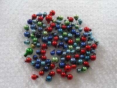 Lot of 100 Vintage Small TINY Feather Tree Ball Christmas Ornaments