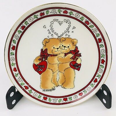 RARE 1980 LUCY & ME I love You Teddy Bear Plate Lucy Rigg Enesco