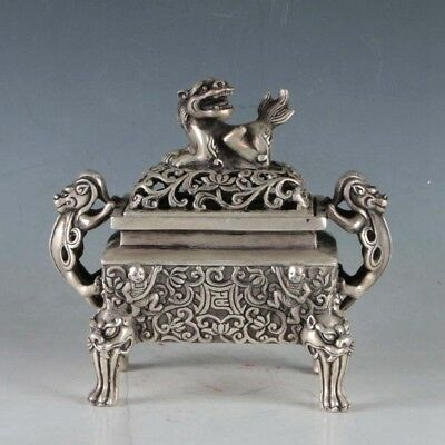 Chinese Silvering Copper Incense Burner Made During The Da Ming Xuande