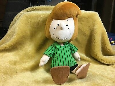 "Rare Peppermint Patty Peanuts 13"" Stuffed Plush Toy Cedar Fair Entertainment Co"