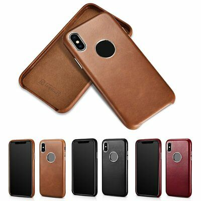iCarer Genuine Cowhide Leather Back Case Cover Protective For iPhone XS Xs Max
