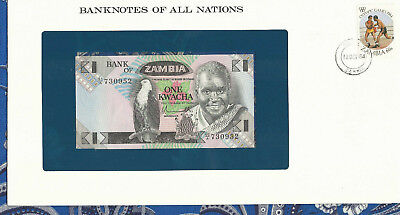 Banknotes of All Nations Zambia 1980 1 Kwacha P23a UNC prefix 60/A*