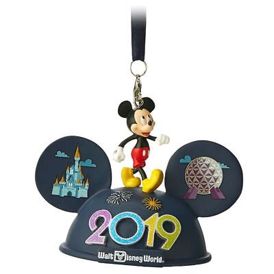 Disney Parks 2019 Mickey and Friends Light-Up Ear Hat Ornament New With Tags