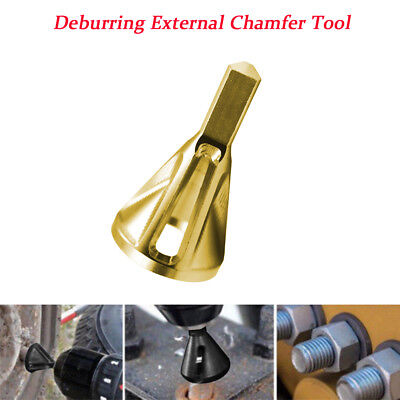 Gold Deburring External Chamfer Tool Stainless Steel Remove Burr Tools Drill Bit
