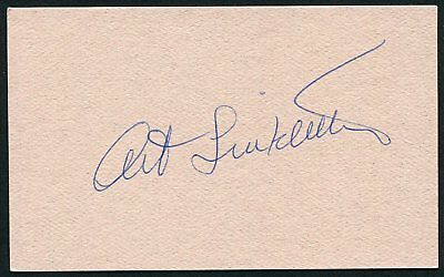Art Linkletter Signed 3X5 Index Card Kids Say The Darndest Things House Party