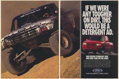 1994 Ford Rough Riders Race-Proven Street Pickup Truck 2-Page Print Ad