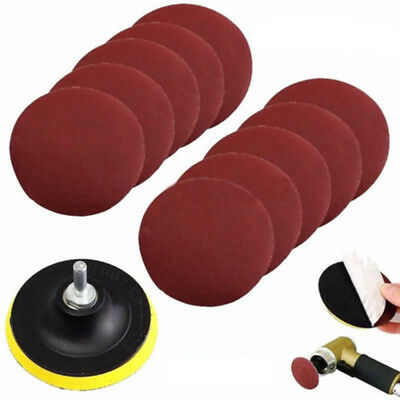 10x 4'' Sanding Disc Sandpaper Hook Loop 1000 Grit Drill Adapter Backing Pad