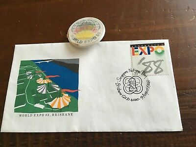 World Expo 88, Envelope And Badge German pavilion
