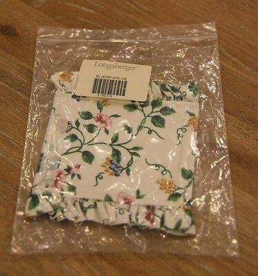 Longaberger Handle Gripper ~ White Vine Fabric ~ NIB