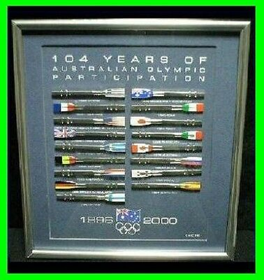 652# * SYDNEY 2000 OLYMPIC GAMES * 104 Years Of Participation Rowing Oars Set