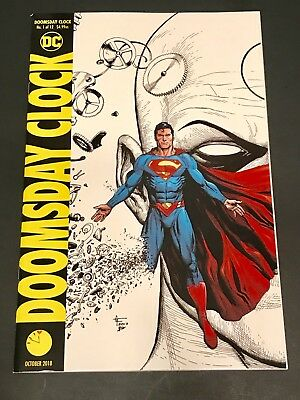 Doomsday Clock #1 SUPERMAN 'B' Spot Color variant Watchmen Gary Frank