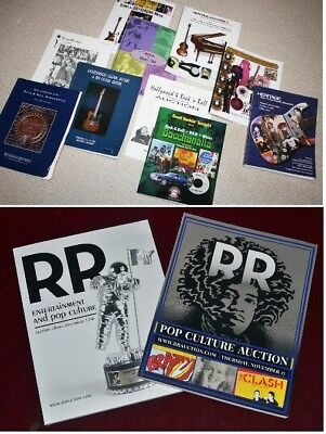 12 MUSIC Auction Catalogs - Reference, Autographs Prices, Photos - FREE SHIP!!