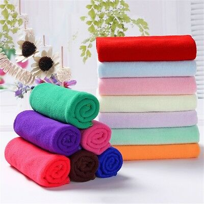 8  Color Soothing Cotton Soft Face Towel Cleaning Wash Cloth Hand Towel  2 Size