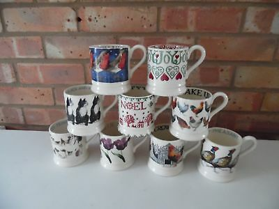 Emma Bridgewater Large Collection of ½ Pint Mugs 9 Different Designs - Brand New
