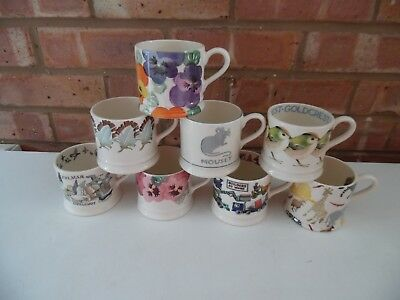 Emma Bridgewater Large Collection of 1/4 Pint Baby Mugs 8 Different Designs New