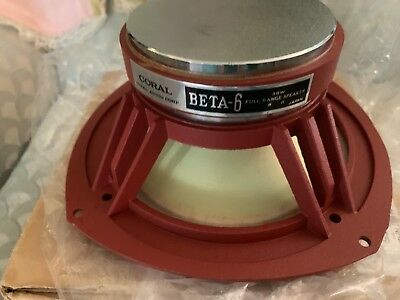 1 New in Box coral beta 6 fullrange driver speaker lowther Axiom 80