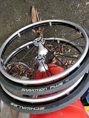 """Spingery Wheelchair Wheels with rgk axles 1/2"""""""