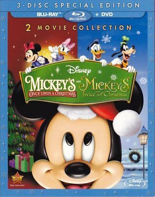 Mickey's Once Upon a Christmas / Twice Upon a Christmas (With DVD) BLU-RAY NEW