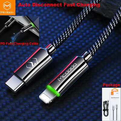 Auto Disconnect Type-C to Lightning PD Fast Charging Cable iPhone XS Max XR 8 7