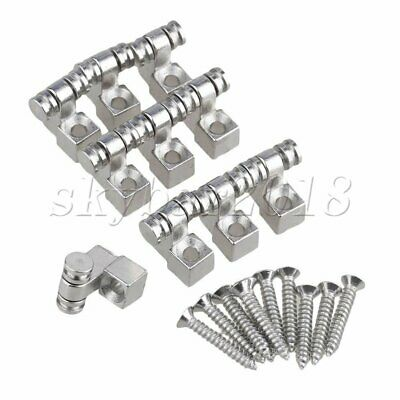 5pcs Chrome Guitar Roller String Trees Guides Retainer Replacement Accessories
