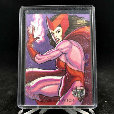 2016 Marvel Gems SCARLET WITCH Nathan Nelson Sketch 1/1 GS-20