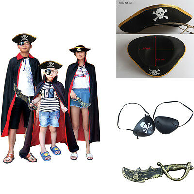 Fashion Children Adult Unisex Halloween Cosplay Pirate Capes Party Dress Set