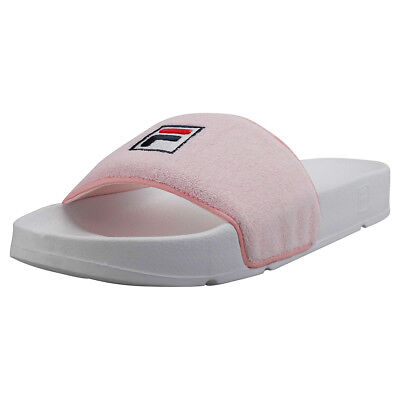 4f385be11eaa FILA DRIFTER TERRY Womens White Pink Synthetic Slide -  30.12